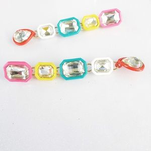 Statement Fashion Colored Drop Earrings